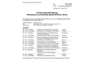 """Dr. Münch hält Pferdewissenschaften-Vorlesung """"Pferdezucht und Genetik"""""""