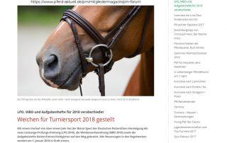 LPO, WBO und Aufgabenhefte für 2018 verabschiedet