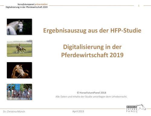 Ergebnisauszug: HFP-Studie Digitalisierung in der Pferdewirtschaft 2019