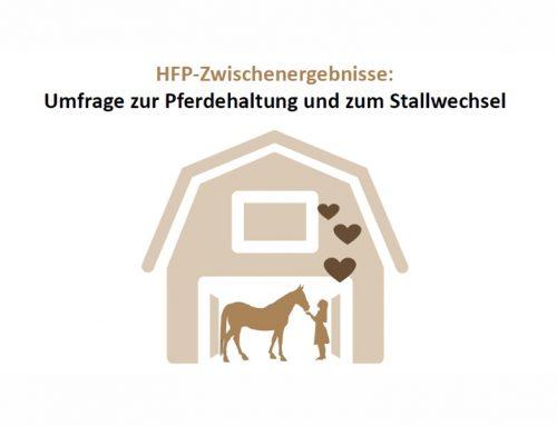"""Zwischenergebnisse zur HFP-Befragung zum Thema """"Pferdehaltung und Stallwechsel"""" 2019"""