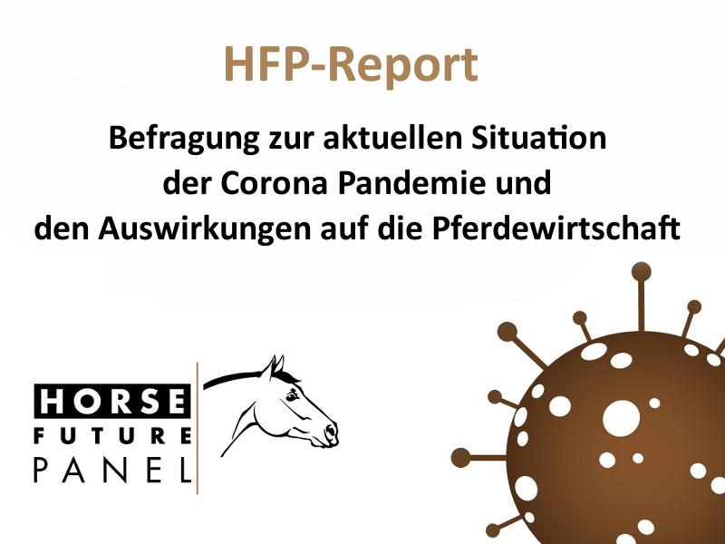 HFP-Report zur aktuellen Situation der Corona-Pandemie und den Auswirkungen auf die Pferdewirtschaft