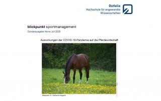 """Newsletter """"Auswirkungen der COVID-19-Pandemie auf die Pferdewirtschaft"""""""
