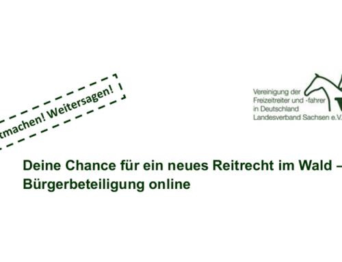 Änderung des Reitrechtes für den Freistaat Sachsen