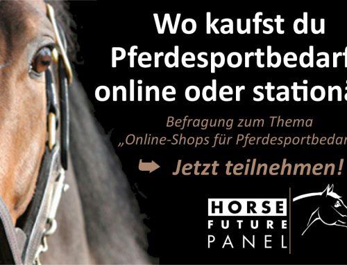 HorseFuturePanel startet Studie zum Einkaufsverhalten von Pferdesportlern